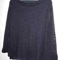 Christie & Jill Lined Black Knit Net Top--Ml--Fun Photo