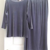 Christie & Jill Plus Size 2 Pc Velvet Top & Maxi Skirt Set  Wpl935   Size 1x Photo