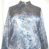 Christie & Jill Size Xl Blue Blouse Top     148 Photo