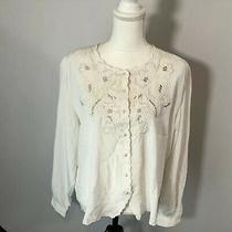 Christie & Jill Women Long Sleeve Blouse Button Down Shirt Top Size 22w - E130 Photo