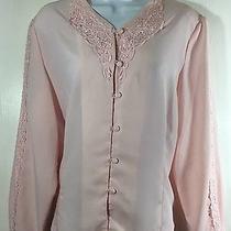 Christie & Jill Womens Long Sleeve Button Front Blouse Shirt Top Size 14 A2 Photo