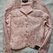 Christine Alexander Jacket Blazer Pink Size S Demask Embellish Swarovski Crystal Photo