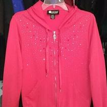 Christine Alexander Red Hoodie Swarvoski Top L Photo