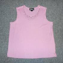Christine Alexander Womens 1x Swarovski Elements Pink Sleeveless Shirt        Z2 Photo