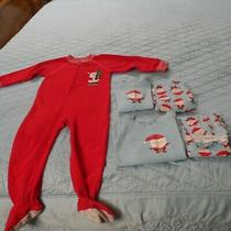 Christmas Pajamas 3t/5t Twins Siblings Blue and Red 3 Pair Old Navy/carters Photo