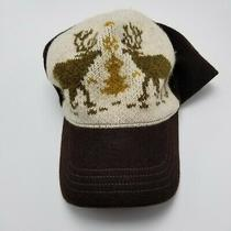 Christmas Reindeer Gap Hat Cap Brown Adult Used Strapback Collectible Fun Br1   Photo
