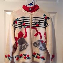 Christmas Sweater Ugly Carroll Reed Hong Kong Large With Dickie  Photo