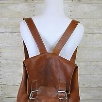 Christopher Kon Brown Leather Backpack Purse Bag Photo