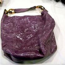 Christopher Kon Purple Leather Bucket Bag/purse/handbag/pocketbook/hobo Style Photo