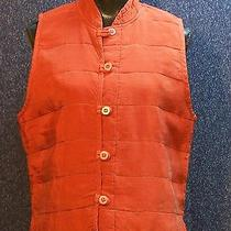 Christy Allen Rayon Vest Red Medium Looks Like Silk Photo