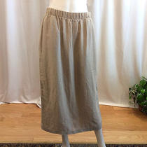 Christy Allen Wearable Art Mid-Weight Long Linen Skirt Medium Photo