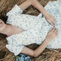 Christy Dawn Dawn Dress Blue White Floral Xs/s New Photo