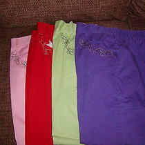 Christy Designs by Rainbow Sporting Goods Capris Lot of 4 Photo