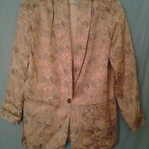 Christy Girl Ny Multi-Color Floral Blazer Women's Size 14 Photo
