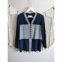 Christy Lyn Vintage Button-Down Black Grey Women's Cardigan Size 11/12 Photo
