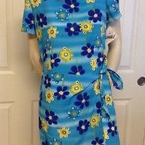 Christy Lyn Women's Vintage Blue & Yellow Floral Print Dress Size 5/6 Nwt Photo