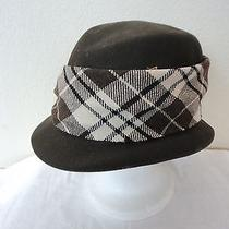 Christy's Boho Urban Chic Brown Plaid Bucket / Crusher / Fedora Hat Sz Tagged M Photo