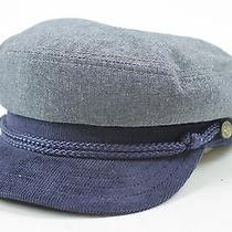 Christy's Crown Collection Mens Fitted Cap Hat Grey Blue Medium M New Photo