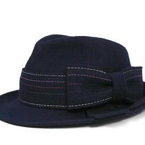 Christy's Hat Ribbon Wool Hat Fedora Navy or Grey Photo