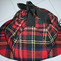 Christy's London Sherlock Holmes Double Brim Deerstalker Plaid Hat Wool Vintage  Photo