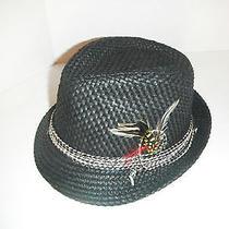 Christy's Mens Deluxe Fedora Walking Hat Medium New Black Photo