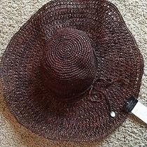 Christys Crown Collection Brown Raffia Lg Floppy Crochet Hat Photo