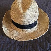 Christys' Crown Collection Fedora Hat Natural Woven W/black Stripe Band Photo