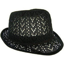 Christys' Crown Macy Fedora Hat in Black Nwt  Photo