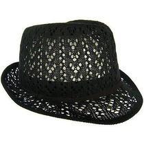 Christys' Crown Macy Fedora Hat in Black Nwt  Photo