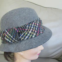 Christys Crown Series Gray Wool Multicolored Band Winter Hat Cap-Small  Photo