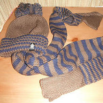 Christys Crown Series Scarf and Pom Beanie Cap Hat Set the Elkhorn Style Photo
