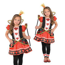 Christys Dress Up Girls Fairytale Queen of Hearts Wonderland Fancy Dress Costume Photo