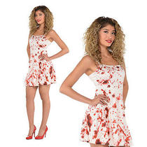 Christys Dress Up Womens Bloody Dress Ladies Scary Halloween Gory Costume Outfit Photo