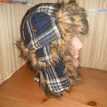 Christys Faux Fur & Wool Bomber Cap Hat Large New  Photo