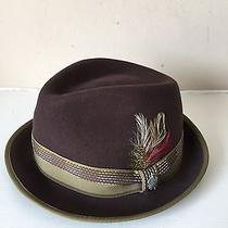 Christys Hat by Tony Merenda Unisex Brown 100% Wool Size-L Photo