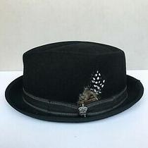 Christys Heisenberg  Pork Pie Hat Med  Black Rn31905 Photo
