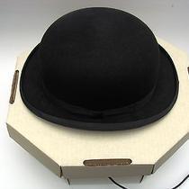 Christys' London Black Felt Derby Bowler Hat Size 7-1/2 Photo