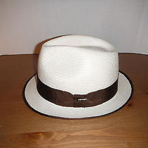 Christys London Genuine Panama Straw Fedora Hat Size 7 3/8 Large Photo