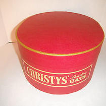 Christys London Hat Box for Derby Bowler Fedora 11x13 Hat Box  Photo