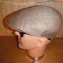 Christys of London 100% Linen Tweed Newsboy Cabbie Cap Hat 7 5/8 Xl Photo