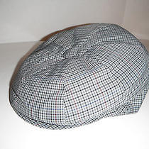 Christys of London Italian Polyester Viscose Newsboy Cap Hat New Large Gray Chek Photo