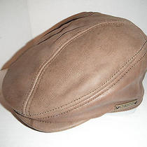Christys of London Leather Newsboy Driving Cap Hat Large Photo
