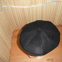 Christys of London Newsboy Cap Hat Cashmere Blend Large Black Photo