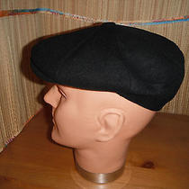 Christys of London Newsboy Cap Hat Cashmere Blend Medium Black Photo