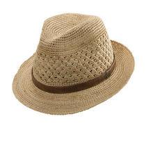 Christys Sale  Raffia Fedora Hat  L  New Mens Shady Straw Crushable Vented Photo