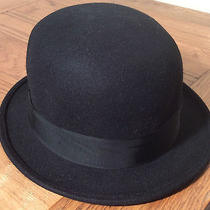 Christys  Womens Black Wool Felt Bowler Hat Uk 7 Us 7 1/8 57cm Free Uk Post Photo