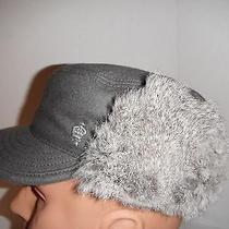 Christys Wool & Fur Railroad Style Fudd Cap Hat Grey Large  Photo