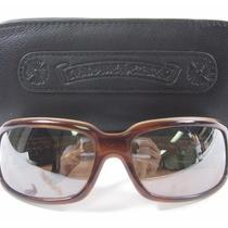 Chrome Hearts Brown Plastic Rim Sunglasses in Case Photo