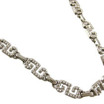 Chrome Plated Fancy Greek Key Link Metal Belly Chain Photo