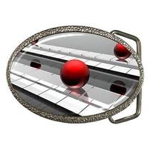 Chrome Red Ball Fantasy Belt Buckle Photo